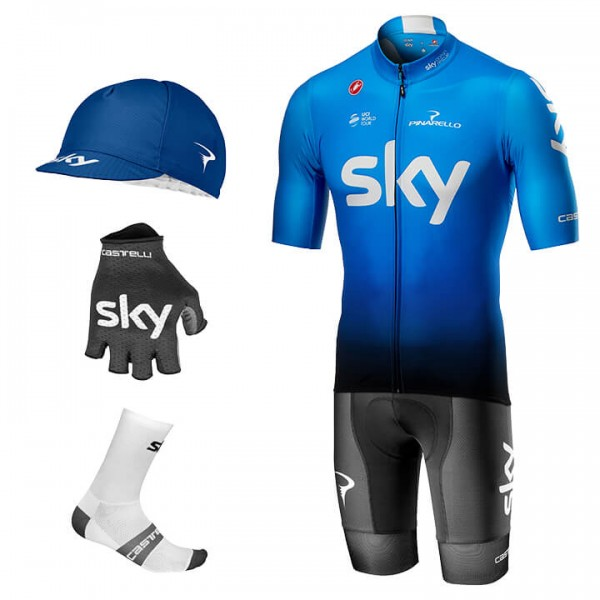 2019 Maxi-Set TEAM SKY Squadra (5 Teile) - Profi-Radsport-Team