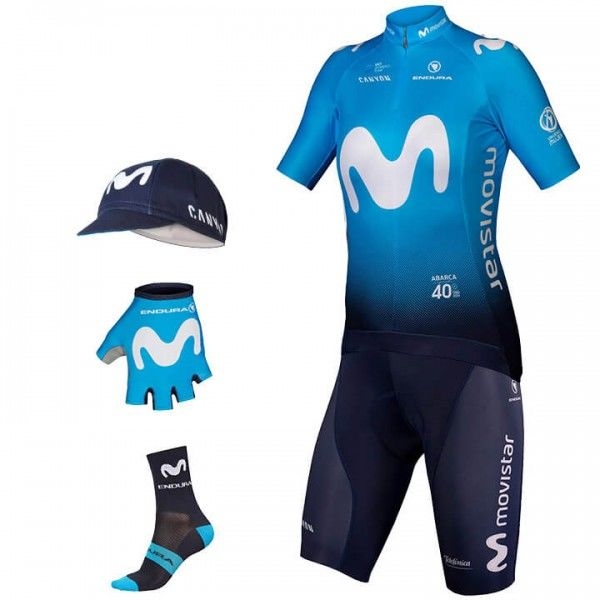 2019 Maxi-Set MOVISTAR TEAM (5 Teile) - Profi-Radsport-Team