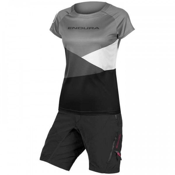 Set (2 Teile) ENDURA Singletrack Core Print Für Damen