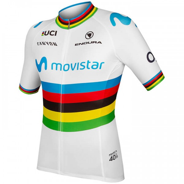 2019 MOVISTAR TEAM Kurzarmtrikot Weltmeister - Profi-Radsport-Team