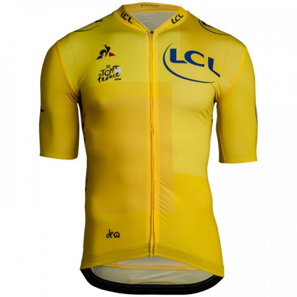 2018 Tour de France Kurzarmtrikot Pro gelb - Profi-Radsport-Team