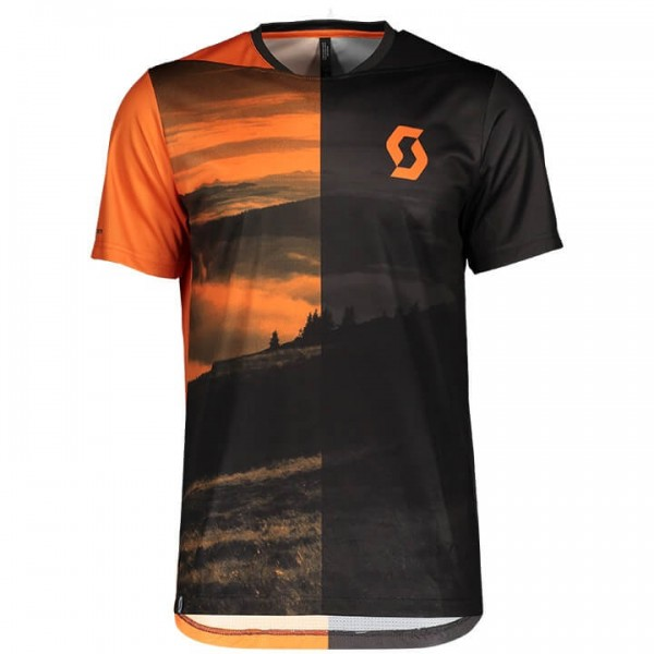 SCOTT Bikeshirt Trail Flow grau - orange Für Herren