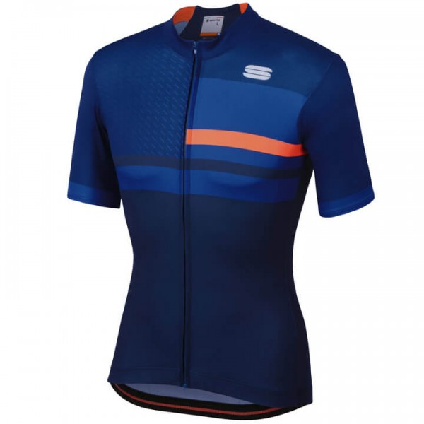 SPORTFUL Kurzarmtrikot Team 2.0 Drift blau - orange Für Herren