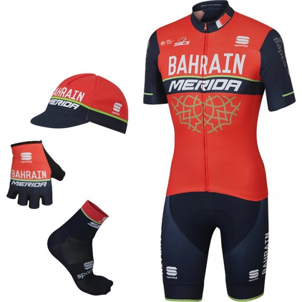 2017 Maxi-Set BAHRAIN-MERIDA (5 Teile) - Profi-Radsport-Team