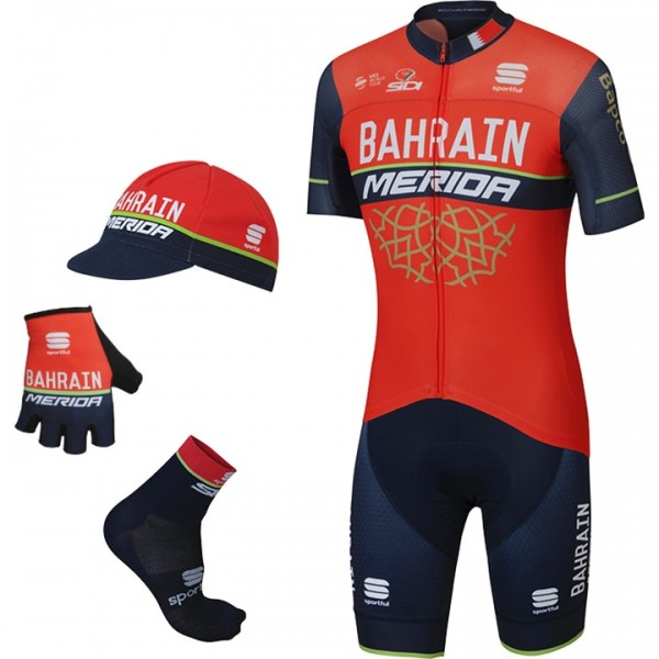 2017 Maxi-Set BAHRAIN-MERIDA Pro Race (5 Teile) - Profi-Radsport-Team
