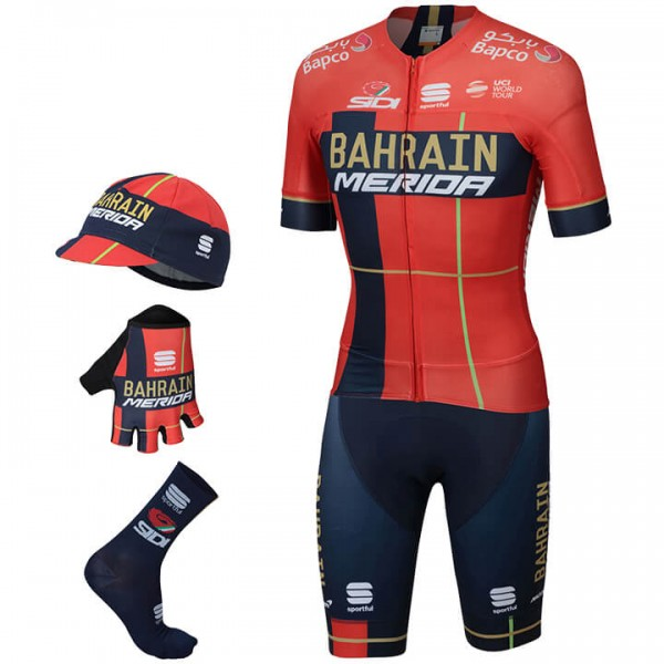 2019 Maxi-Set BAHRAIN - MERIDA Pro Race (5 Teile) - Profi-Radsport-Team