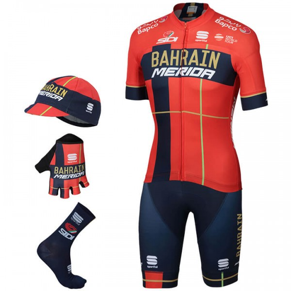 2019 Maxi-Set BAHRAIN - MERIDA Team (5 Teile) - Profi-Radsport-Team