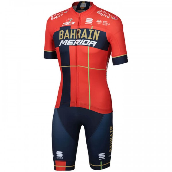 2019 Set BAHRAIN - MERIDA Team (2 Teile) - Profi-Radsport-Team