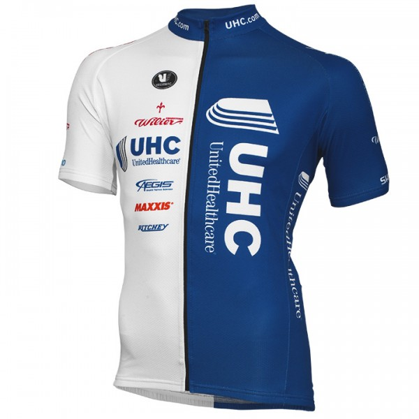 UNITED HEALTHCARE PRO CYCLING Kurzarmtrikot langer RV 2014 - Profi-Radsport-Team