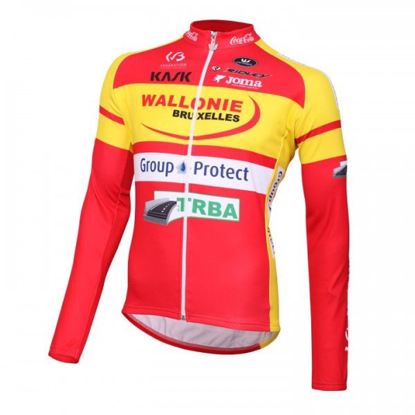 WALLONIE BRUXELLES-GROUP PROTECT Langarmtrikot 2016 - Profi-Radsport-Team